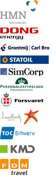 Ansatte fra disse virksomheder har været på kurset Personlig Kommunikation