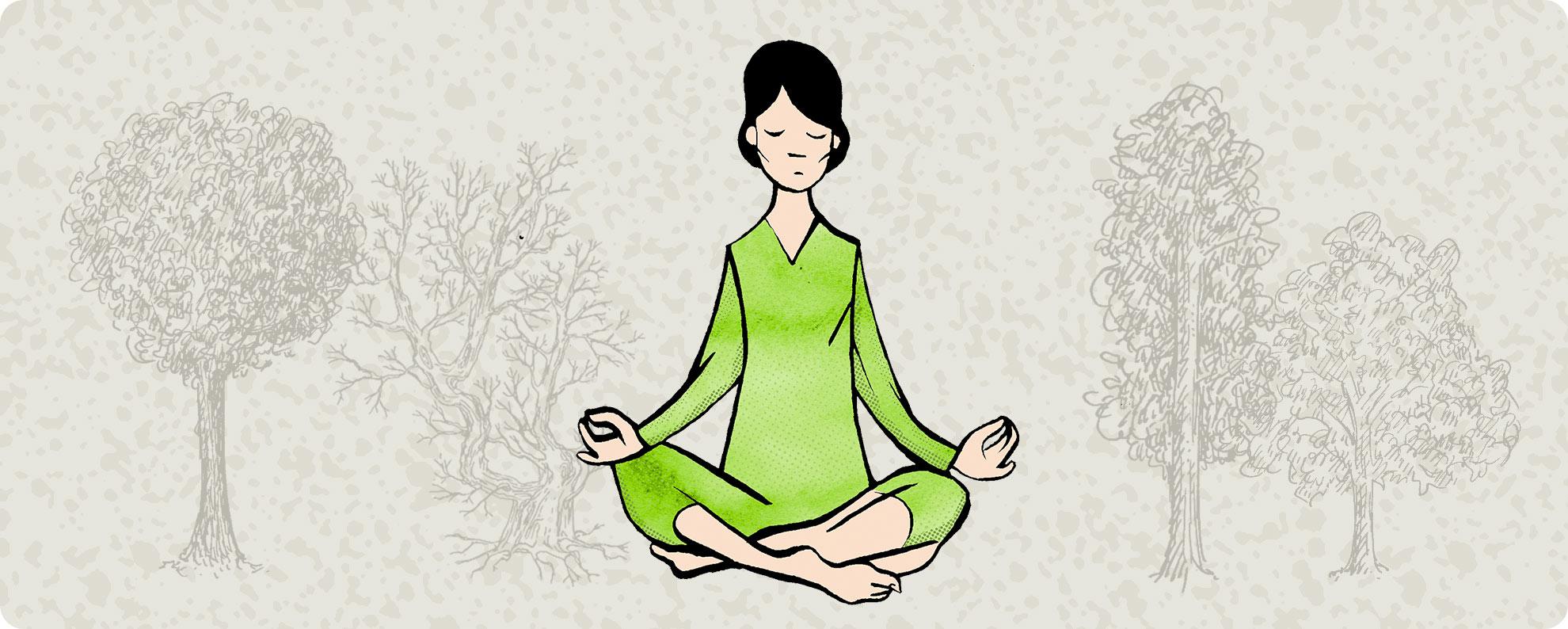 Mindful vandring og naturterapi